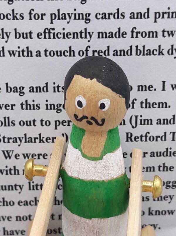 Green Peg Doll