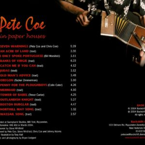 Pete Coe – In Paper Houses