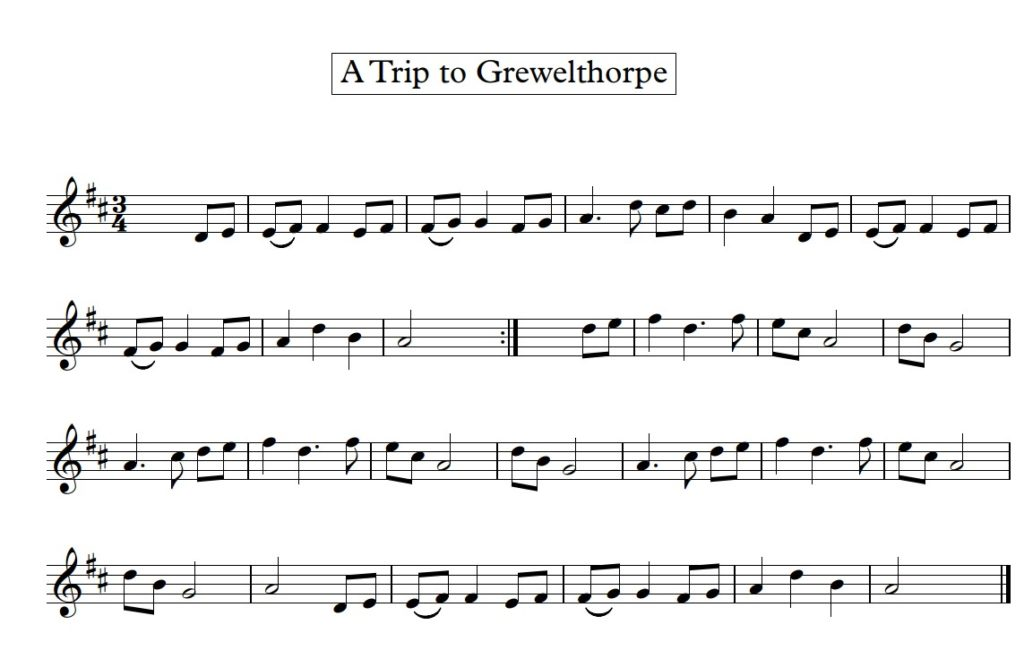Thursday 26th March: A Trip to Grewelthorpe (Nick Barber)
