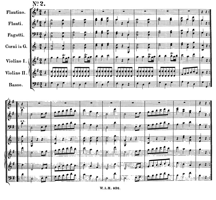 Sunday 22nd March: Michael Turner's Waltz (Mozart 6 Deutsche Tanze No. 2 KV536)